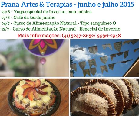 Prana Artes & Terapias - junho e julho