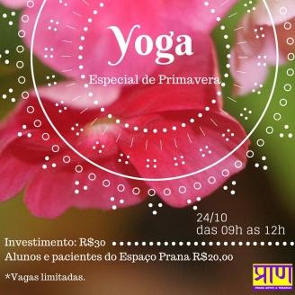 Yoga Especial de primavera e flores