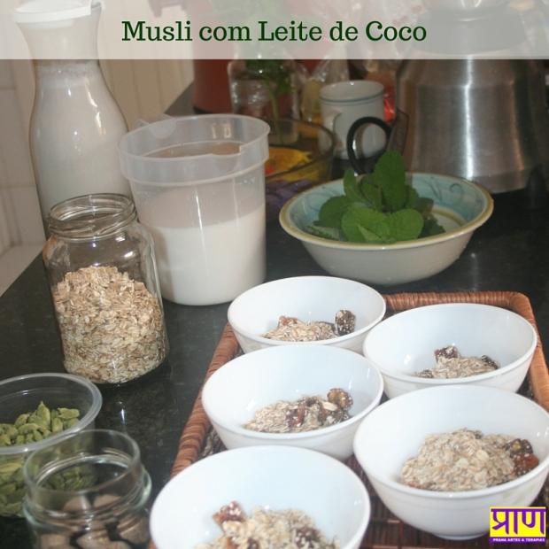 Musli com Leite de Coco